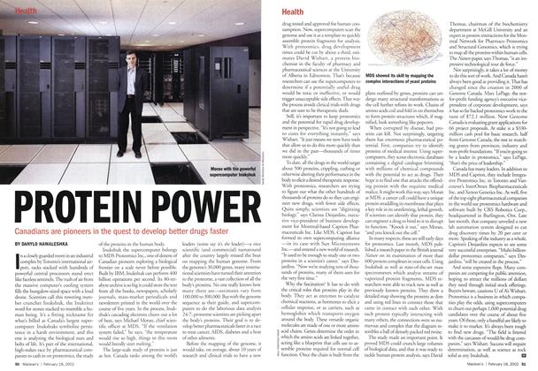 Article Preview: PROTEIN POWER, February 2002 | Maclean's