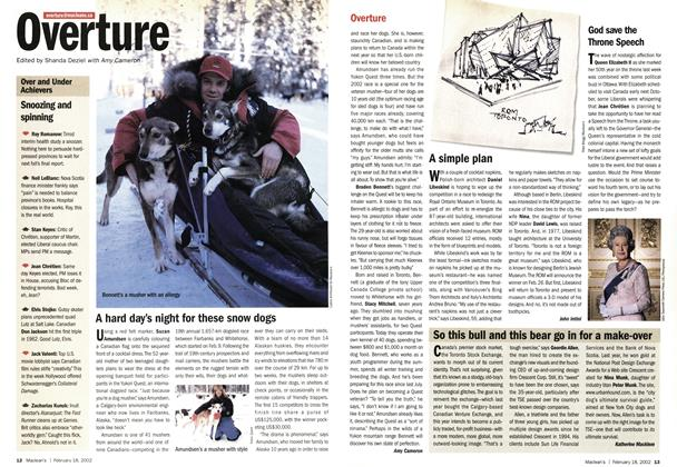 Article Preview: Overture, February 2002 | Maclean's