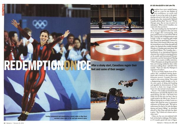 Article Preview: REDEMPTION ON ICE, February 2002 | Maclean's