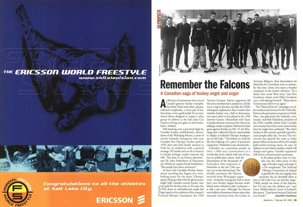 Article Preview: Remember the Falcons, February 2002 | Maclean's