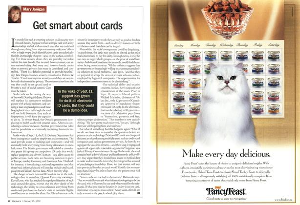 Article Preview: Get smart about cards, February 2002 | Maclean's