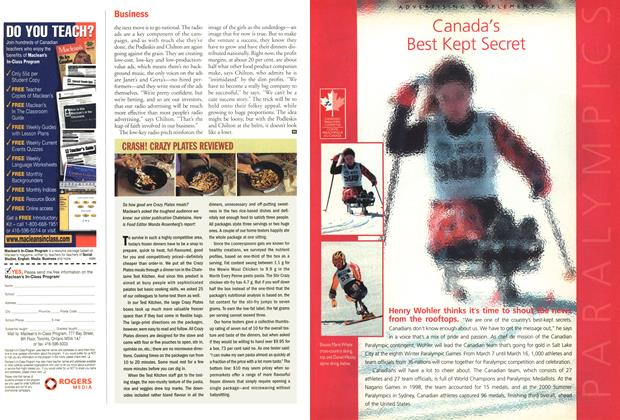 Article Preview: CRASH! CRAZY PLATES REVIEWED, March 4,2002 2002 | Maclean's