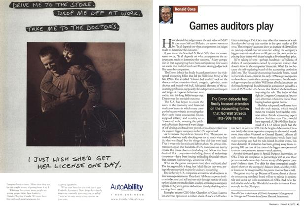 Article Preview: Games auditors play, March 4,2002 2002 | Maclean's