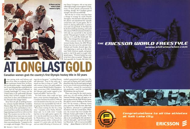 Article Preview: ATLONGLASTGOLD, March 4,2002 2002 | Maclean's