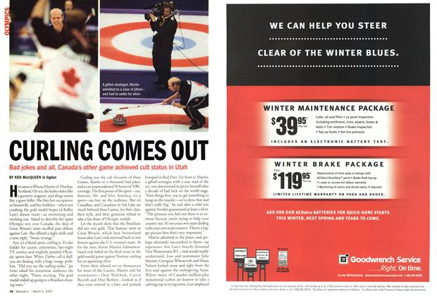 Article Preview: CURLING COMES OUT, March 4,2002 2002 | Maclean's