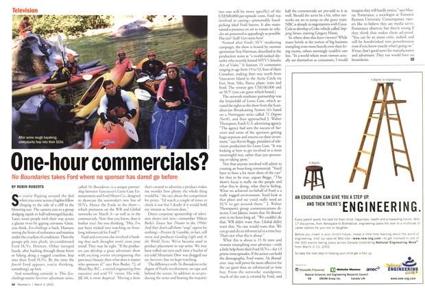 Article Preview: One-hour commercials?, March 4,2002 2002 | Maclean's