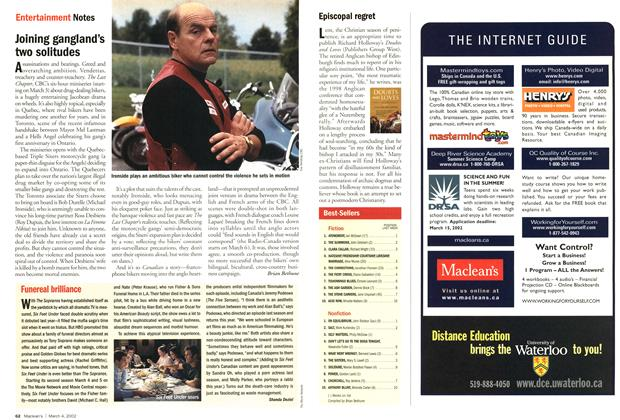 Article Preview: Funereal brilliance, March 4,2002 2002 | Maclean's