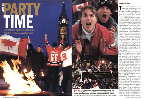 Article Preview: PARTY TIME, March 11,2002 2002 | Maclean's