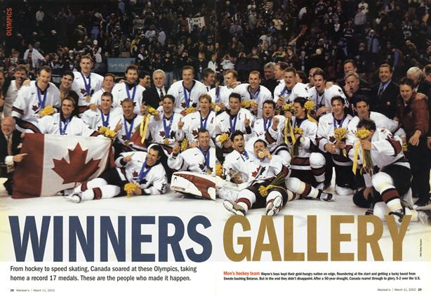 Article Preview: WINNERS GALLERY, March 11,2002 2002 | Maclean's