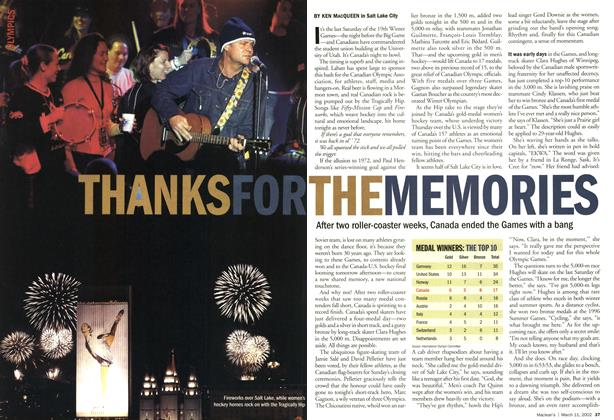 Article Preview: THANK FOR THE MEMORIES, March 11,2002 2002 | Maclean's