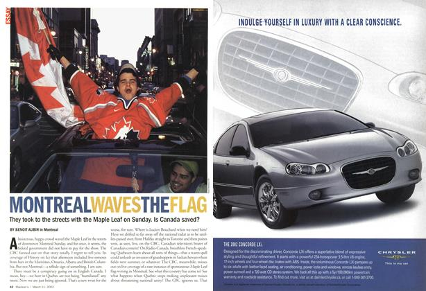 Article Preview: MONTREAL WAVES THE FLAG, March 11,2002 2002 | Maclean's
