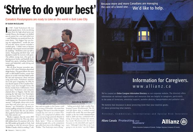 Article Preview: 'Strive to do your best', March 11,2002 2002 | Maclean's