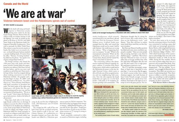 Article Preview: 'We are at war', March 2002 | Maclean's