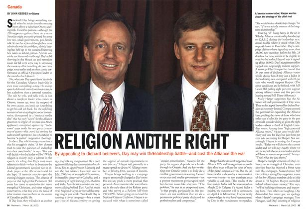 Article Preview: RELIGION AND THE RIGHT, March 2002 | Maclean's