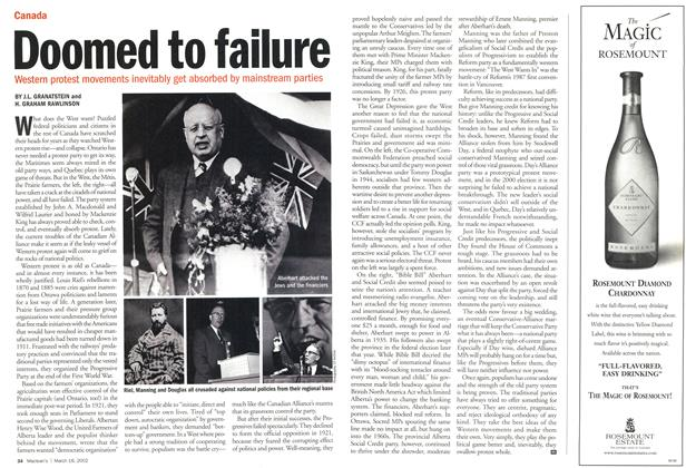 Article Preview: Doomed to failure, March 2002 | Maclean's