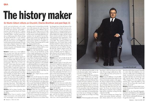 Article Preview: The history maker, March 2002 | Maclean's
