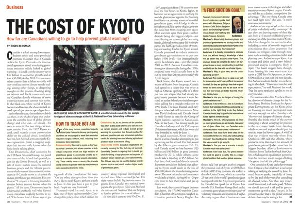 Article Preview: THE COST OF KYOTO, March 2002 | Maclean's