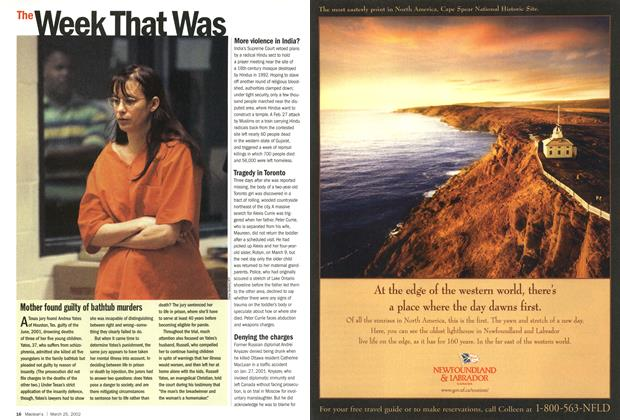 Article Preview: The Week That Was, March 2002 | Maclean's