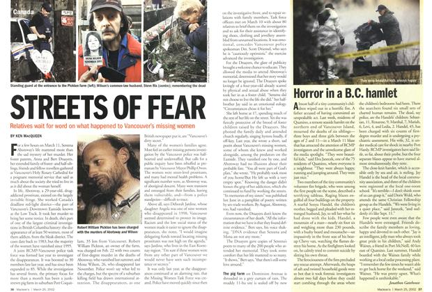 Article Preview: STREETS OF FEAR, March 2002 | Maclean's