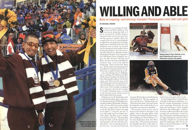 Article Preview: WILLING AND ABLE, March 2002 | Maclean's
