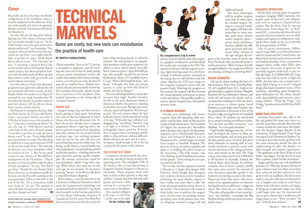 Article Preview: TECHNICAL MARVELS, March 2002 | Maclean's