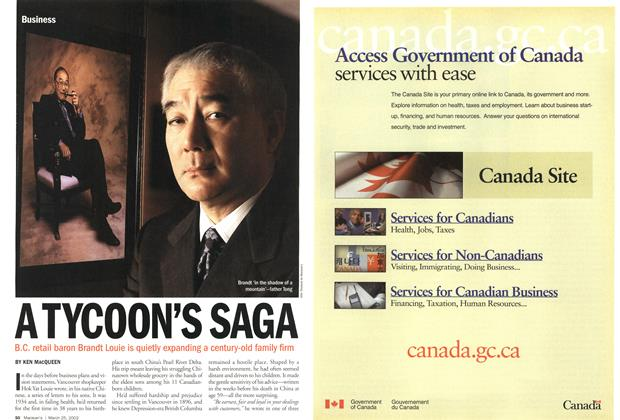 Article Preview: ATYCOON'S SAGA, March 2002 | Maclean's