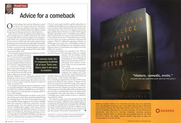 Article Preview: Advice for a comeback, March 2002   Maclean's