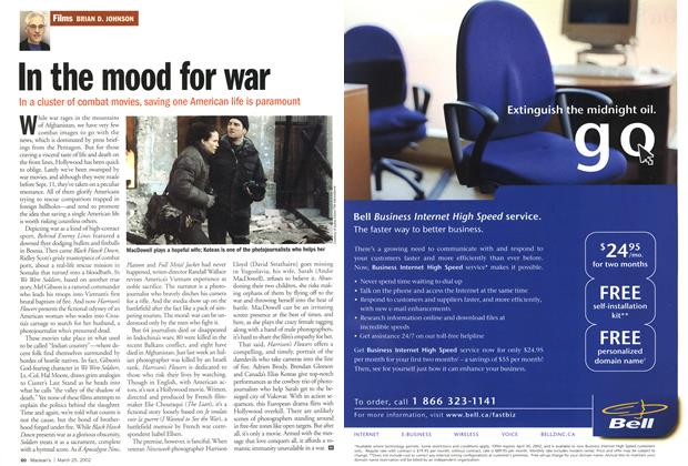 Article Preview: In the mood for war, March 2002 | Maclean's
