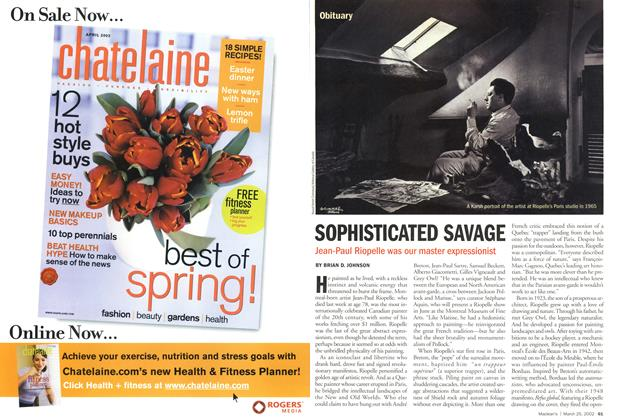 Article Preview: SOPHISTICATED SAVAGE, March 2002 | Maclean's