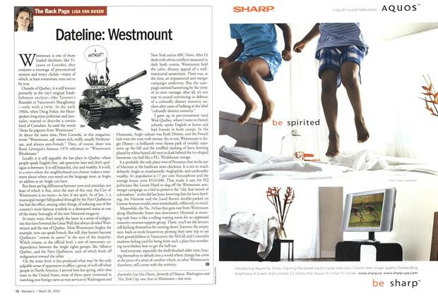 Article Preview: Dateline: Westmount, March 2002 | Maclean's