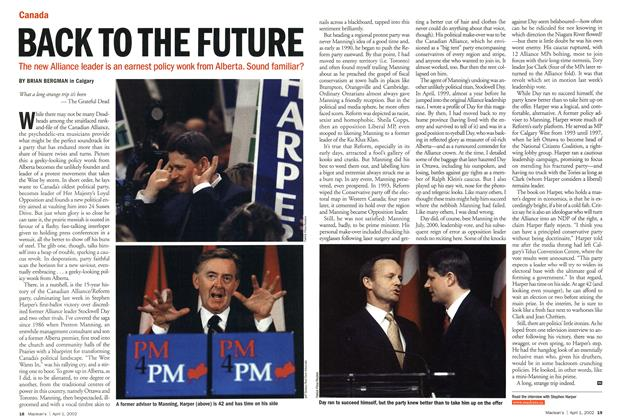 Article Preview: BACK TO THE FUTURE, April 2002 | Maclean's