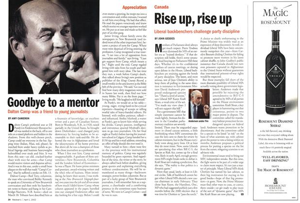 Article Preview: Rise up, rise up, April 2002 | Maclean's