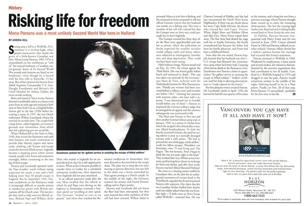 Article Preview: Risking life for freedom, April 2002 | Maclean's
