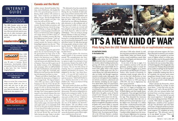 Article Preview: 'IT'S A NEW KIND OF WAR', April 2002   Maclean's