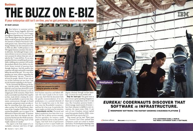 Article Preview: THE BUZZ ON E-BIZ, April 2002 | Maclean's