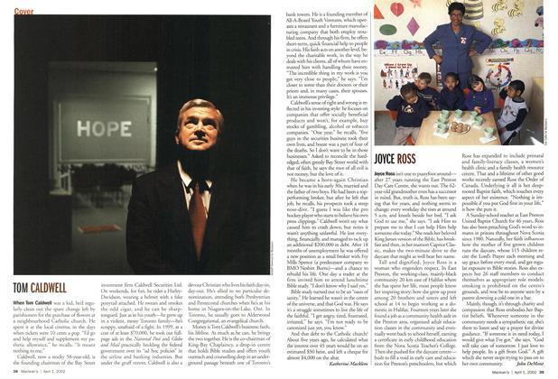 Article Preview: JOYCE ROSS, April 2002 | Maclean's