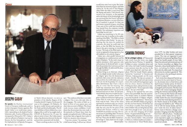 Article Preview: SAMIRA THOMAS, April 2002 | Maclean's