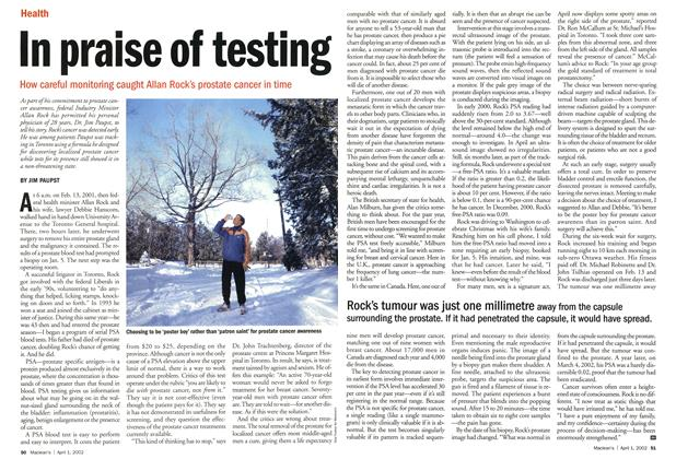 Article Preview: In praise of testing, April 2002 | Maclean's