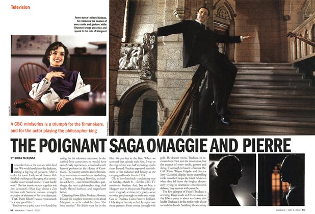 Article Preview: THE POIGNANT SAGAO MAGGIE AND PIERRE, April 2002 | Maclean's
