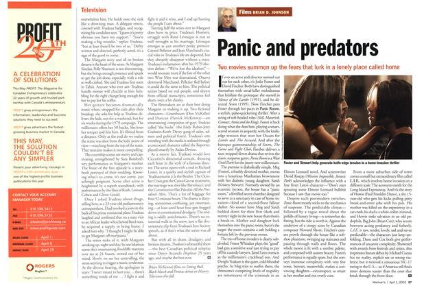 Article Preview: Panic and predators, April 2002 | Maclean's