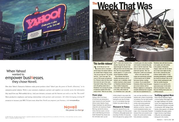 Article Preview: The Week That Was, April 2002 | Maclean's
