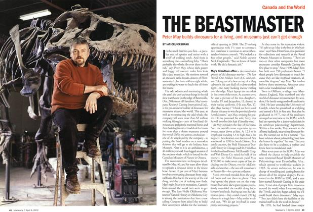 Article Preview: THE BEASTMASTER, April 2002 | Maclean's