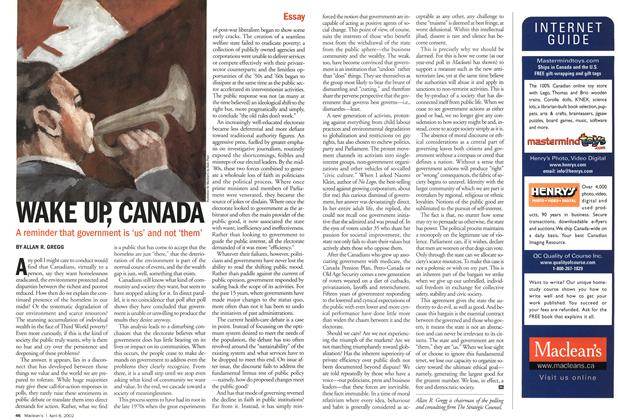Article Preview: WAKE UP,CANADA, April 2002 | Maclean's