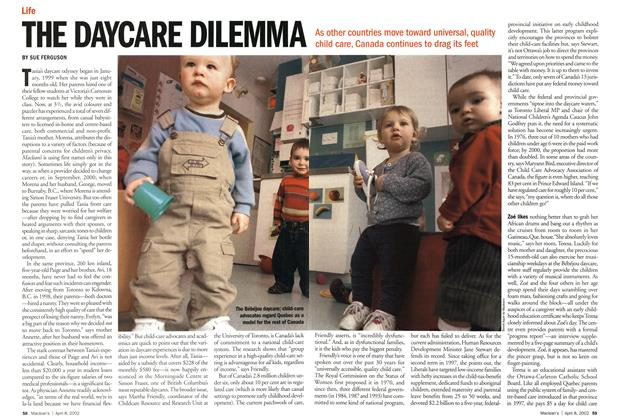 Article Preview: THE DAYCARE DILEMMA, April 2002 | Maclean's