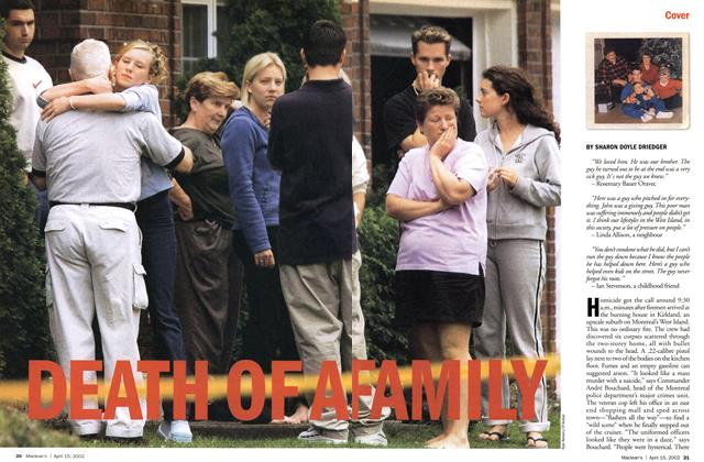 Article Preview: DEATH OF A FAMILY, April 2002 | Maclean's