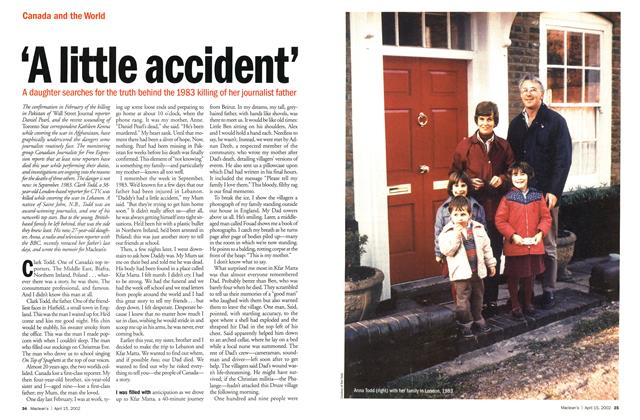 Article Preview: 'A little accident', April 2002 | Maclean's
