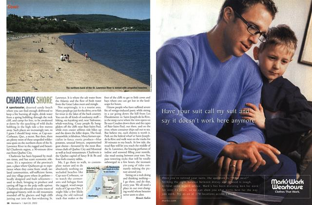 Article Preview: CHARLEVOIX SHORE, April 2002 | Maclean's