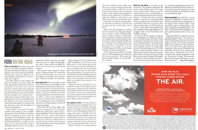Article Preview: FOTH ONTHE ROAD, April 2002 | Maclean's