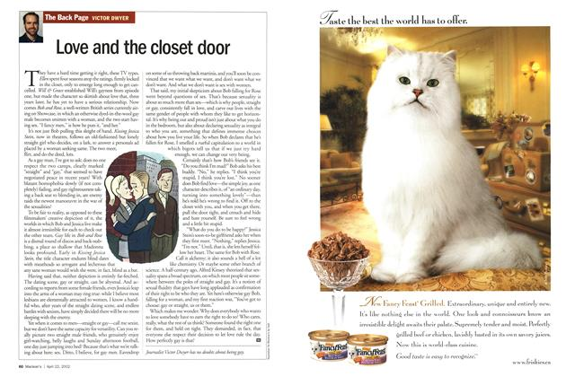 Article Preview: Love and the closet door, April 2002 | Maclean's