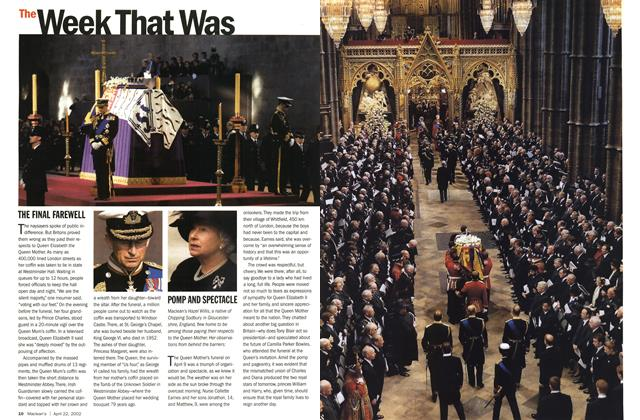 Article Preview: THE FINAL FAREWELL, April 2002 | Maclean's